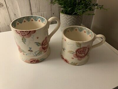 2 X Emma Bridgewater Rose And Bee Mugs Please Read • 15£