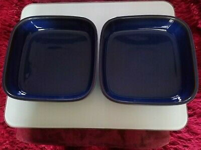 Denby Imperial Blue  Large Serving Dishes , Lasagne Dish, Square. X 2  • 9.99£