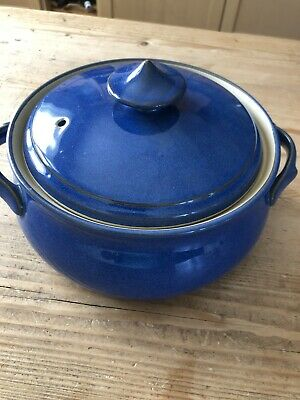 Denby Imperial Blue Casserole Dish With Lid • 15£