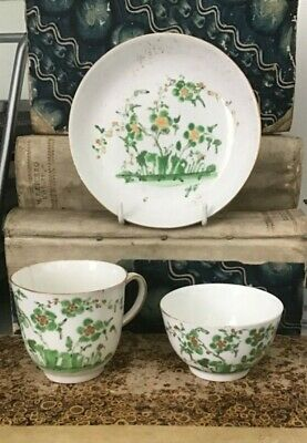 Antique Rare Early Derby Porcelain Coffee Cup Tea Bowl Saucer Chinoiserie 1765  • 19.99£