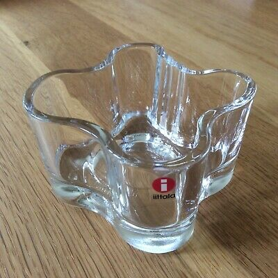 Iittala Alvar Aalto Collection Glass Votive Clear Glass, Made In Finland • 18.99£