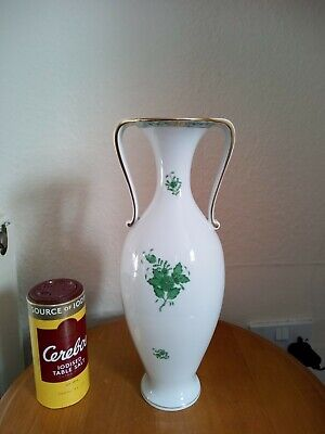 HEREND CHINESE BOUQUET APPONYI HUNGARY LARGE 33cm's CLASSICAL PORCELAIN VASE. • 89.95£