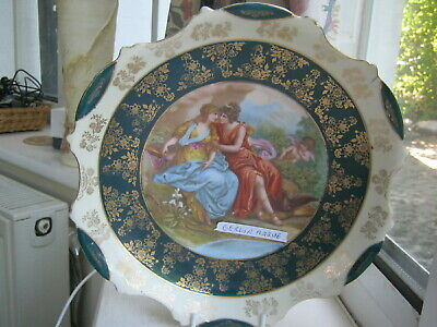 A FINE RARE Beauty  Romantic Berlin (I Think) Plaque,early 20th Century. Meissen • 1£