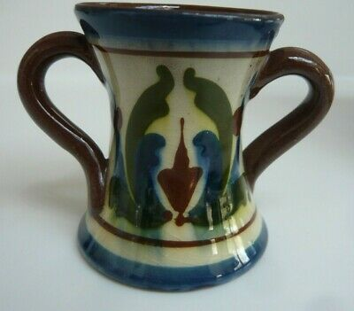 Vintage Devon Pottery  2 Handled Spill Pot • 3.50£