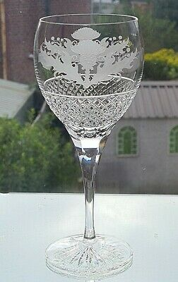 Thistle Design 14oz Crystal Goblet         8 1/4 Inches Tall (Quality) • 35£