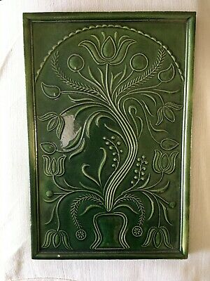 Ceramic Tile Green 8x12 Inches Very Good Condition • 17.50£