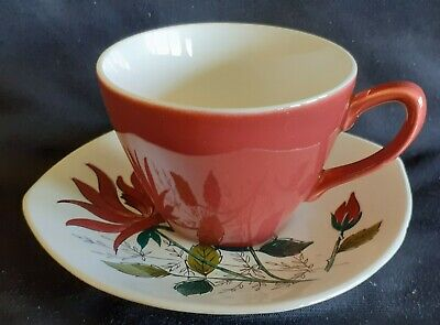 Vintage MIDWINTER Coffee Cup & Saucer NUALA 1956s • 7.99£