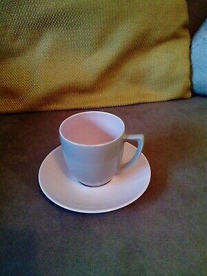 Branksome Two Tone Pottery Cup And Saucer  • 2£