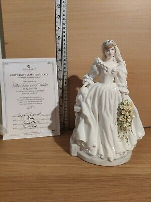 Coalport  Diana Princess Of Wales  Figurine John Bromley Limited Edition • 89.99£