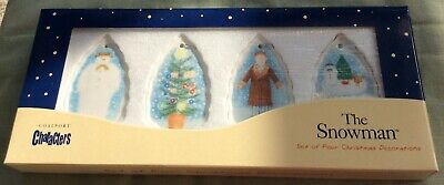 Coalport The Snowman 4 Christmas Tree Decorations Rare. Excellent Cond. Boxed • 13.50£