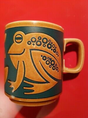 Hornsea Pottery Mug - Two Frogs - Green/Brown - Collectable Vintage Retro • 14.51£