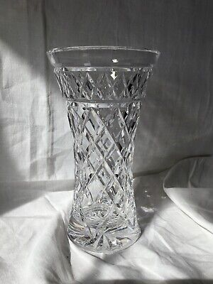 Stunning Heavy Edinburgh Crystal Vase Large In Perfect Condition • 23.40£
