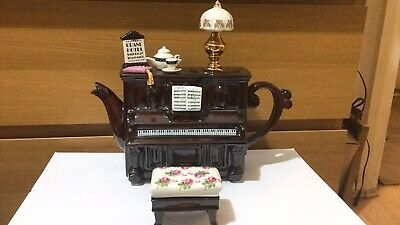 RARE TEAPOTTERY SWINESIDE COLLECTABLE NOVELTY PIANO And Stoll Teapot • 115£