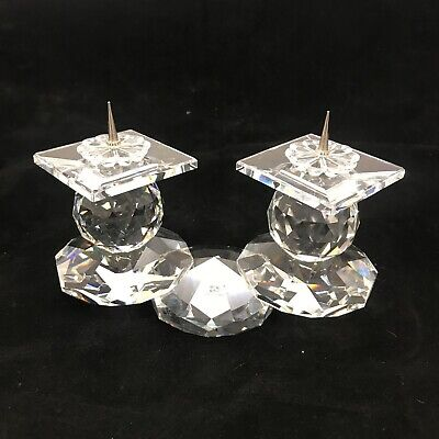 Swarovski Crystal Ornate Double Candle Holder Decorative Candlestick 261187 • 11.50£