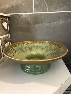 Vintage Candy Ware Pottery Made In England Footed Bowl • 35£