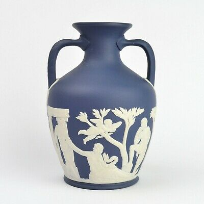 Wedgwood Dark Blue Jasperware Portland Vase / Amphora With Original Box • 199.99£