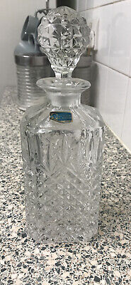 24 Percent Lead Crystal Decanter. 8 Inch • 3.30£