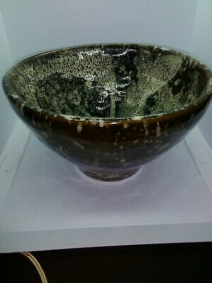 Vintage Brown Lava (Honeycomb) Bowl, See All Photos. Vgc.  • 6£
