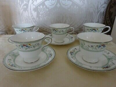 Wedgwood China Agincourt Set Of 5 Cups & Saucers • 14.99£