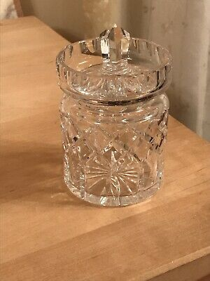 Cut Glass Condiment Jar Complete With Lid , In Excellent Condition • 3.30£