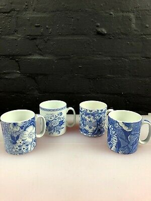 4 X Spode The Blue Room Collection Mugs Set • 39.99£