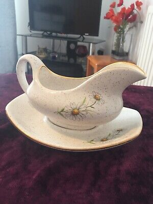 Kernewek Pottery Daisy Gravey Boat With Stand • 10£
