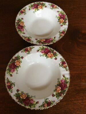 Royal Albert Old Country Roses 20cm Rimmed Soup Bowls X 2 • 25£