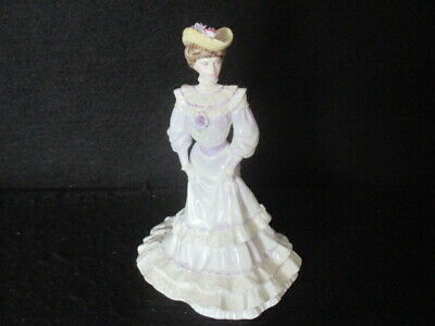 Coalport Figurine Golden Age 'louisa At Ascot' Limited Edition 1st • 39.50£