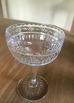 1 X Royal Brierley, Vintage Crystal Champagne Coupe, Signed On Base • 4.50£