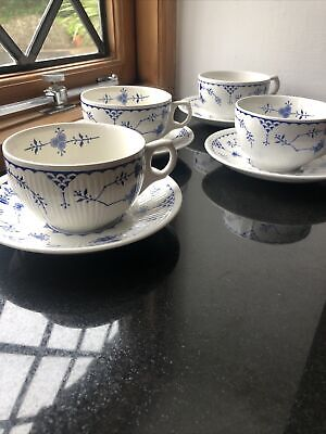 Furnival Denmark China  4 X Tea Cups And Saucers • 16.99£