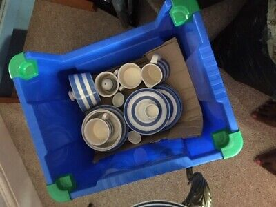 T G Green Cornishware Blue White Job Lot 40 Items • 225£