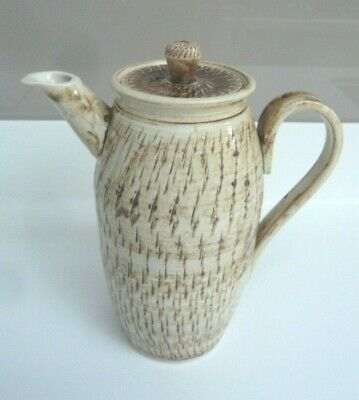Vintage Bonchurch Art Pottery Coffee Pot With Incised Detail Decoration • 3.99£