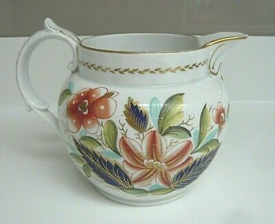 Antique Gaudy Welsh Style Pottery Jug • 12.99£