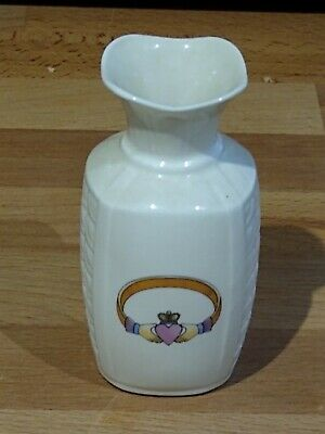 Vintage Irish Parian China  Donnegal Claddagh Vase Perfect Condition • 4.99£