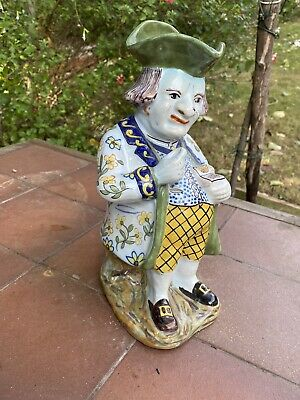 Toby Jug French Faience Snuff Taker • 49.50£