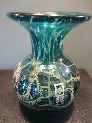 Mdina Small Vase Signed Mdina (michael Harris) 9cm High And Weighs 268gms • 25£