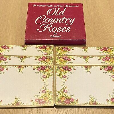 Old Country Roses - Six Table Mats In Fine Melamine - Boxed Vintage Tableware • 8.99£
