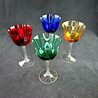 Set Of 4 Gucci Wine Glasses Colored • 336.30£