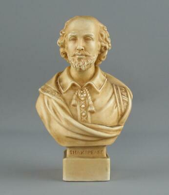 Antique Robinson & Leadbeater Parian Bust Shakespeare From Chandos Picture • 65£