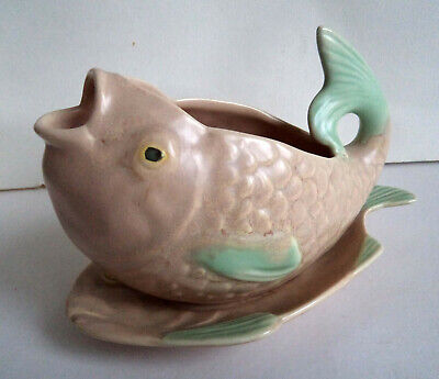 Vintage 1930's Shorter & Son Fish Sauce Boat On Plate. VGC • 32£