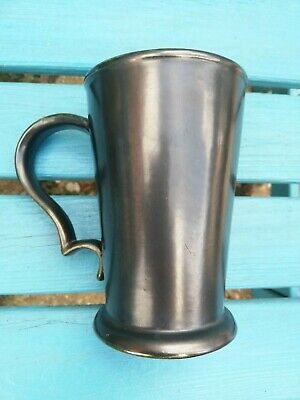 Prinknash Abby Pottery Pewter Coloured Vintage Tankard. • 3.99£