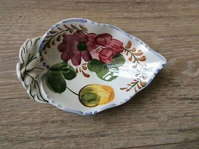 "Simpson's Potters Belle Fior Leaf Shape Dish 6.5"" Approx. • 6£"