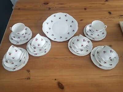 Colclough Pink Rose Bud Bone China Set Reduced Due To House Move!! • 16.28£