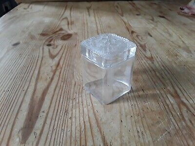 Small Glass Pot With Lid • 3£