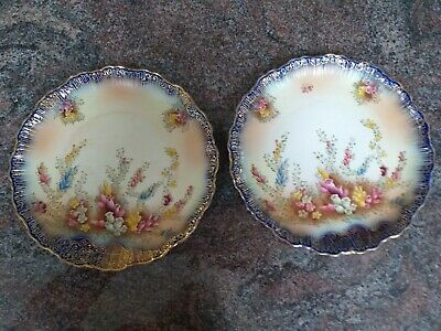 Pair Of Edwardian Carlton Ware Plates, Highly Decorative 1907,  • 20£