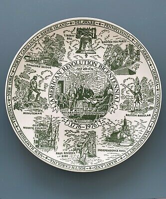 American Revolution Bicentennial Plate #1 Signing Declaration Of Independence • 3£