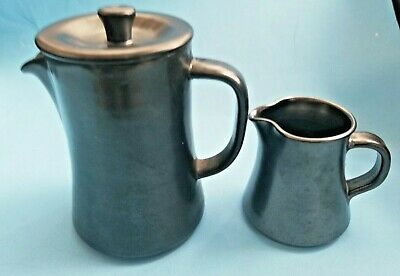 Prinknash Pewter Lustre Colour Coffee Pot, And Milk Jug • 4.99£