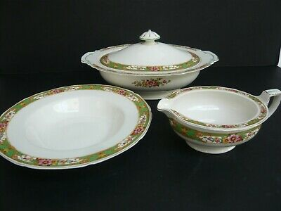 3 Pieces Of 1930's Art Deco Grindley Tunstall Dinnerware • 5.50£