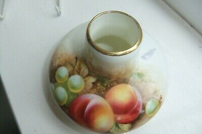 FINE And BEAUTIFUL Royal Worcester Painted Fruit Signed Vase Of RARE Shape. • 80£