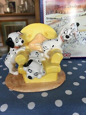 Royal Doulton' Disney 101 Dalmatians Figurine 'pups In The Armchair' Boxed • 24.99£